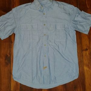 Woolrich Large Shirt Sleeve Shirt Blue button down